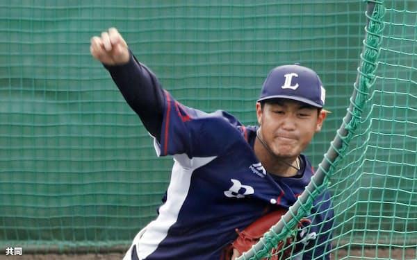 高橋光は左打者対策にカットボールの習得に取り組む=共同
