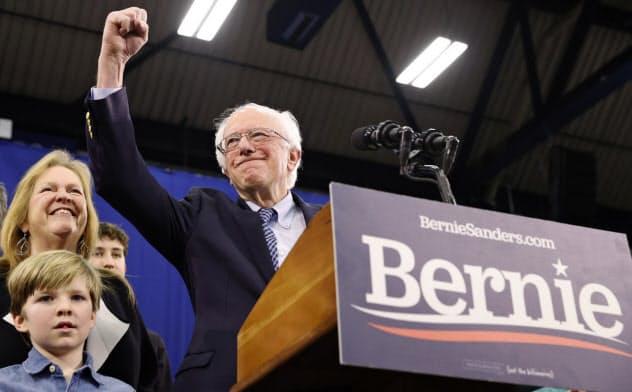米大統領選の民主党候補指名争いで序盤優勢に立ったサンダース氏=ロイター