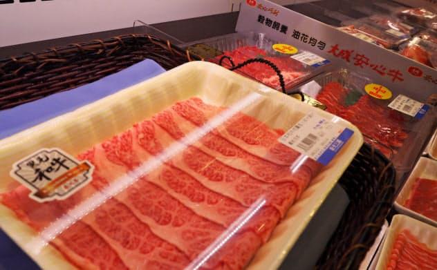 和牛は国際競争力のある農産物の一つ(台北市内のスーパー)