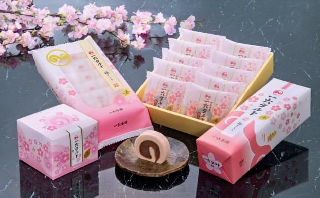 一六本舗は春限定の「一六タルト桜」を発売