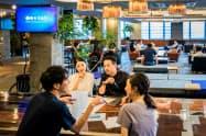 企業に在籍しながらも何か新しいことに挑戦したい人が集まる会員制施設「SAAI(サイ)」(東京・千代田)