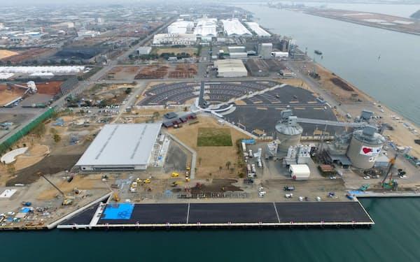 完成式典が中止になった八代港のクルーズ船新拠点(熊本県八代市)