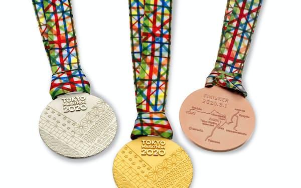 2020年の東京マラソンの表彰メダル