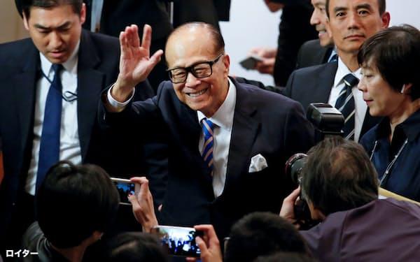 香港の著名な実業家である李嘉誠氏=ロイター