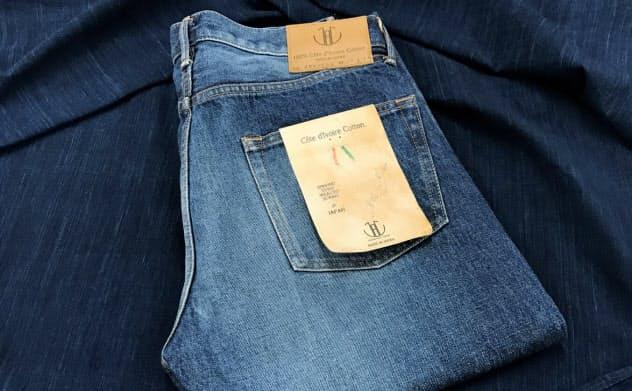 近くジーンズを藍染めの風呂敷に包んでの発送を始める予定