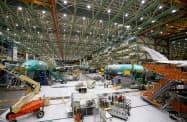 米鉱工業生産は、航空機生産の落ち込みで低下した(米ワシントン州にあるボーイング社の工場)=ロイター