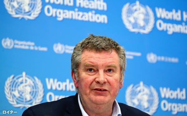 マイク・ライアン氏は大規模イベントの開催可否を巡って、WHOは技術的な助言をするのが役割と語った=ロイター