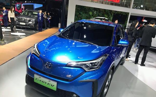 トヨタは中国工場の部品などの安定確保にメドをつけた(2019年11月、広州モーターショー)