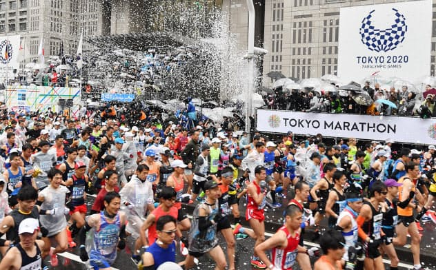 東京マラソン、一般走者抜き 参加料返金せず
