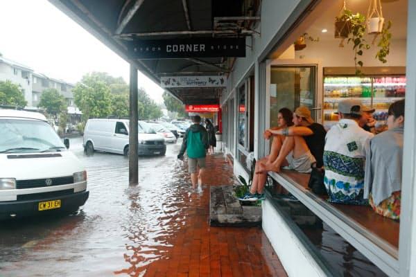 豪雨による浸水も相次いだ(NSW州北部)=AAP