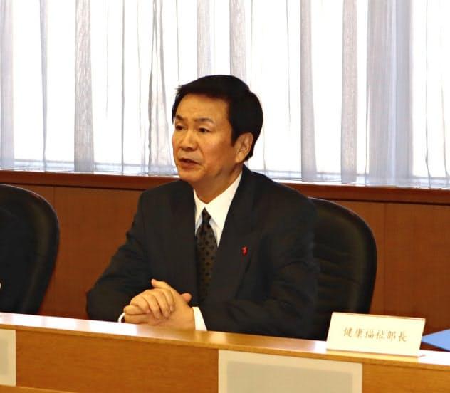 森田健作知事は感染拡大を想定した対策を取るよう指示した(17日、千葉県庁)