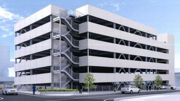 日本システムバンクが福井駅東口に建設予定の立体駐車場(イメージ)