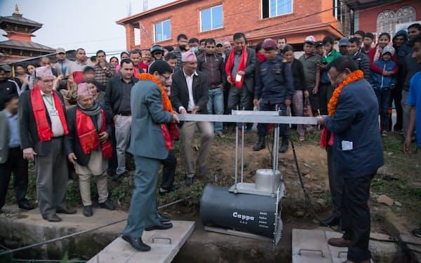 ODA事業によってネパールで設置された(茨城製作所提供)