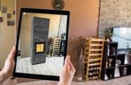 拡張現実(AR)で家具などの製品の大きさや設置したイメージを把握することができる
