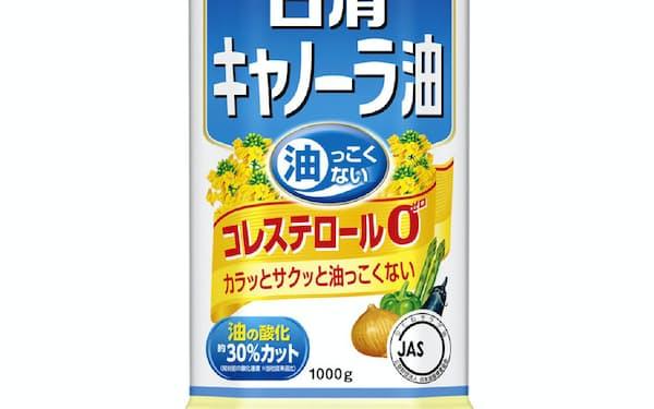値上げの対象となる家庭用油「日清キャノーラ油1000gポリ」