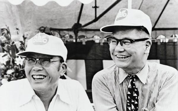 創業者の本田宗一郎氏(左)と藤沢武夫氏の発案で生まれた本田技術研究所は大きな分岐点を迎える