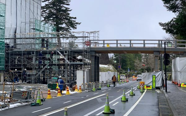 20年度は金沢城西側の鼠多門、鼠多門橋の仕上げに入る(金沢市)