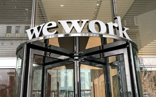 WeWorkのオフィス(米ニューヨーク)