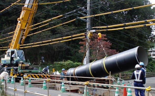 横浜市は水道管の更新で耐震性を向上させる