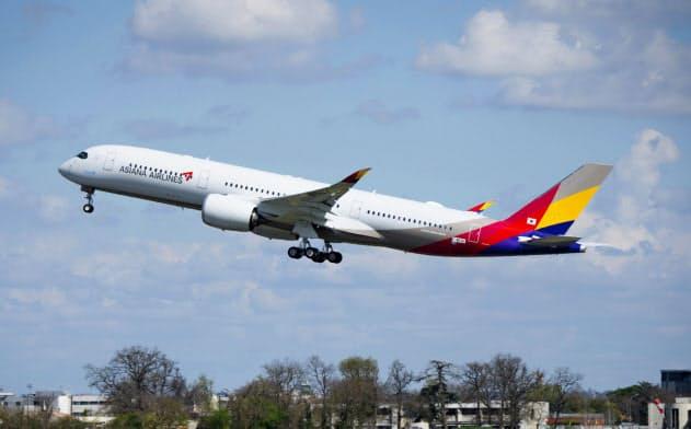 アシアナ航空は「経営の非常事態」を宣言した=同社提供