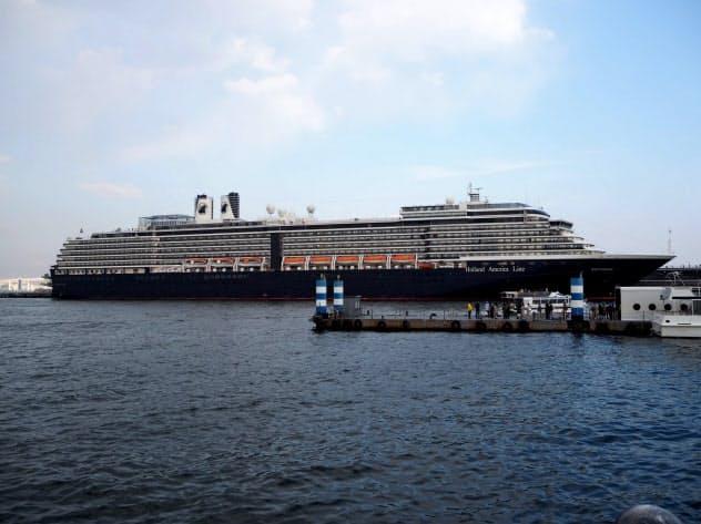 15日に入港予定だったクルーズ船「ウエステルダム」も寄港中止に(19年、横浜港)