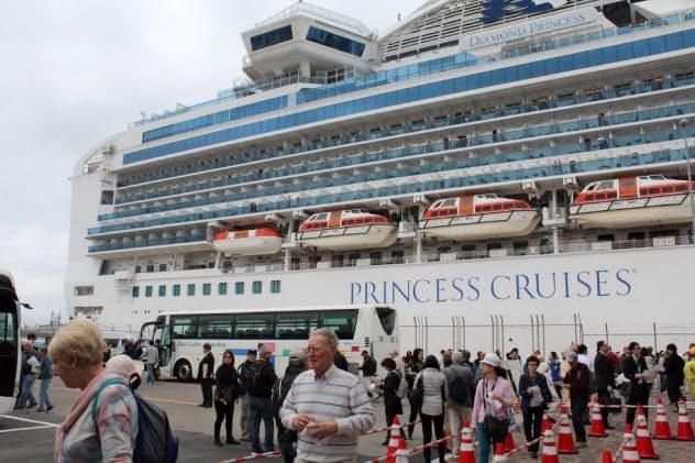 新型肺炎の感染拡大は観光誘客に影を落とす(2018年4月、秋田港に寄港したダイヤモンド・プリンセス)