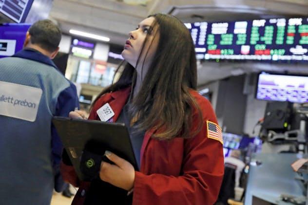 ニューヨーク証券取引所(NYSE)=AP