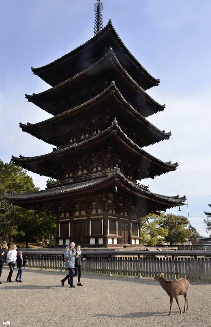 興福寺五重塔を修理へ 奈良県、調査の予算計上: 日本経済新聞