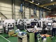 工作機械の受注は一段の底割れが懸念される(国内工場)