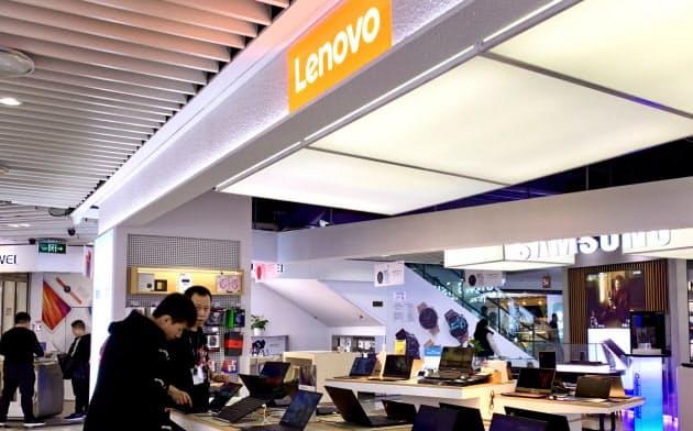 レノボのパソコン販売は好調だった(北京市内の販売店、2019年11月)