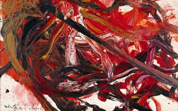 「天空星急先鋒」(1962年、油彩、カンバス、182×272.4センチ、兵庫県立美術館蔵)