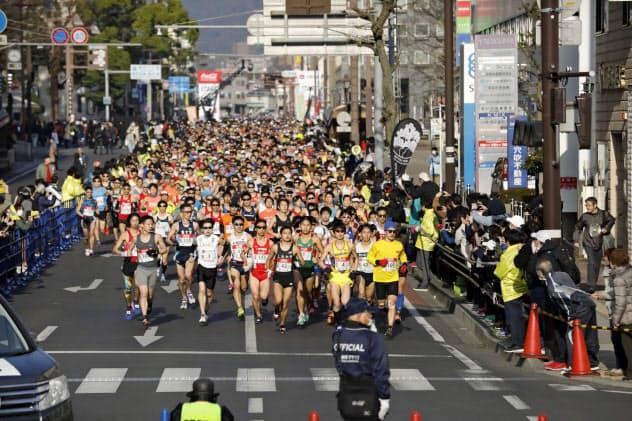 多くの人が集まるため感染拡大のリスクがあると判断した(2019年の静岡マラソン)