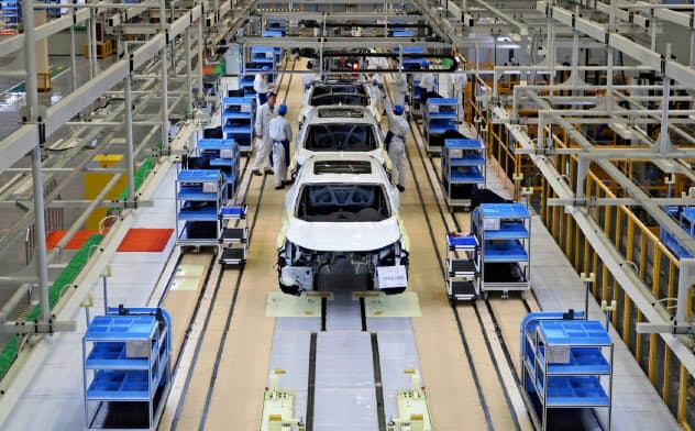 新型肺炎が発生した中国・武漢には多くの自動車メーカーが生産拠点を持つ(ホンダの工場)=ロイター