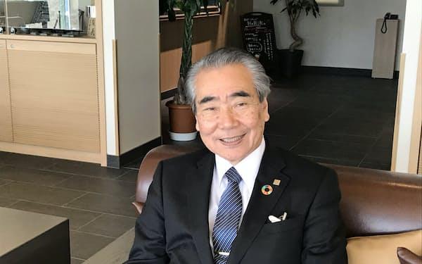 愛媛経済同友会代表幹事の新山富左衛門氏
