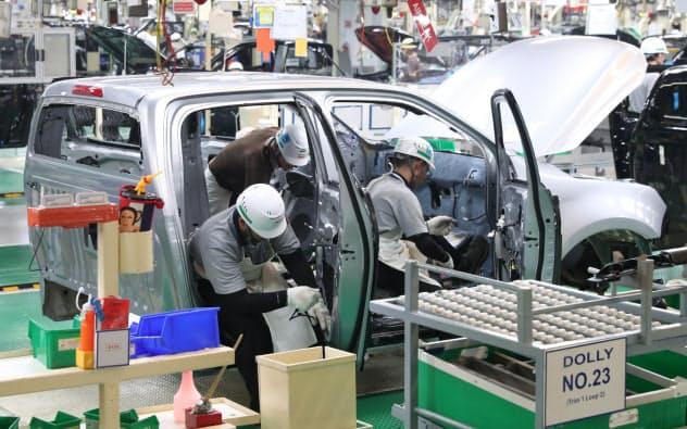 いすゞ自動車の工場(2019年、タイ東部チャチュンサオ県)