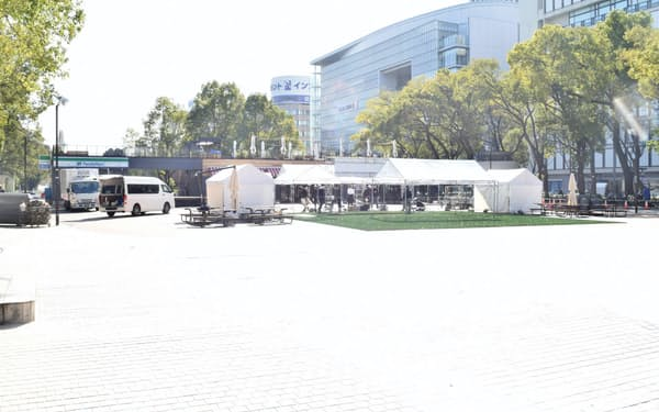 「ミツコシマエ ヒロバス」が開業する(名古屋市中区)