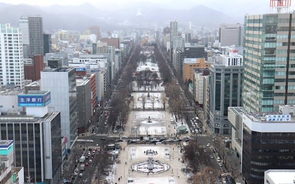 マラソンと競歩のスタート・ゴール地点となる大通公園(札幌市)