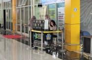 インドネシアは空港での体温検査を強化している(1月末、北マルク州の空港)