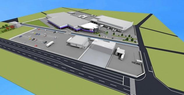 ラニイ福井貨物は福井IC近くに新たな物流拠点を建設する(イメージ)