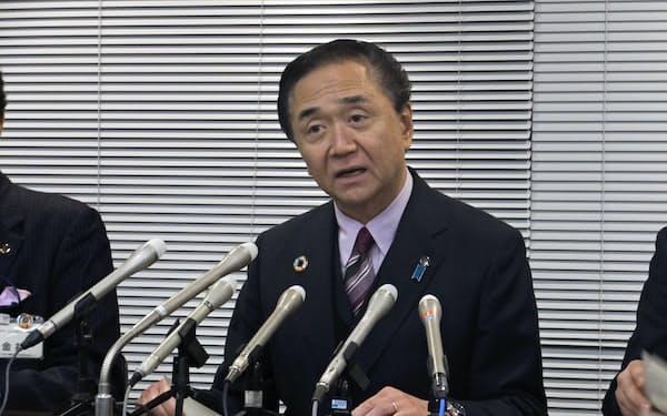 アビガンの投与要望について会見する神奈川県の黒岩知事(県庁)