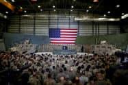 アフガニスタン東部の米軍のバグラム空軍基地=ロイター