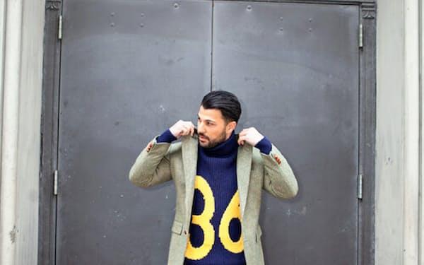 寄付された中古品を販売する非営利団体「グッド・ウィル」の衣服をまとった男性(ニューヨーク市提供)