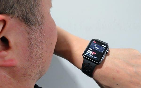 アップルウオッチで心拍を測定する