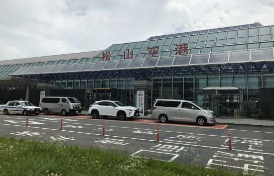 新型コロナウイルスの影響で国際線欠航が相次ぐ(松山空港)