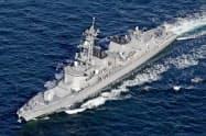 海上自衛隊の護衛艦「たかなみ」