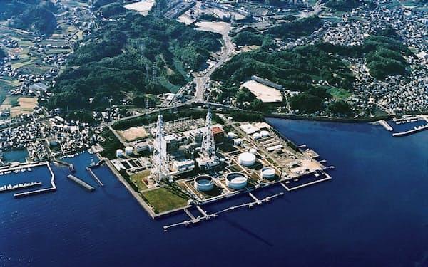 中国電力は20年6月をめどに岩国発電所を廃止する(山口県岩国市)