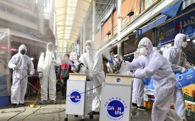 新型コロナ、韓国の感染者1000人突破