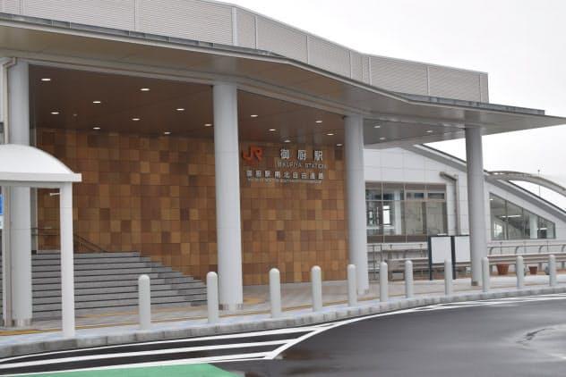3月14日に開業する東海道本線の「御厨駅」(26日、静岡県磐田市)=JR東海提供