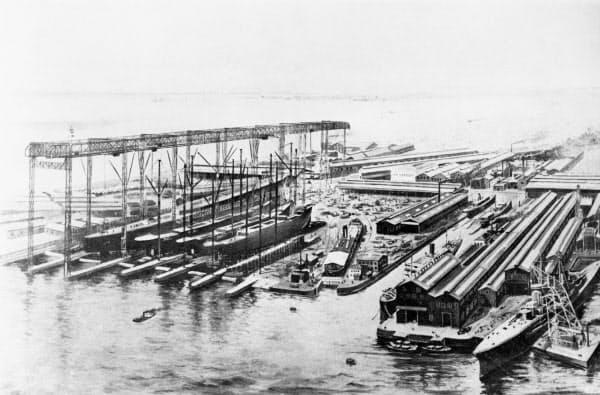 大正時代に撮影された現在の川重神戸工場