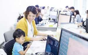 ゴーフィールドでは子連れ出勤を推奨、働きやすい環境を整える